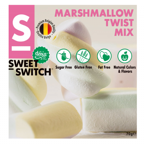 Marshmallow Twist Mix No Added Sugar Free Stevia SWEET SWITCH 70g